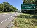 2019-08-12 11 49 02 View north along U.S. Route 1 (Jefferson Davis Highway) at the exit for Quantico Marine Corps Base in Prince William County, Virginia.jpg