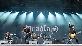 Deadland Ritual performing at Rock im Park 2019