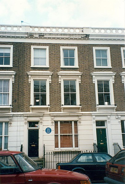 Archivo:23 Fitzroy Road, London - Sylvia Plath - W.B. Yeats.jpg