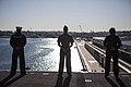 31st MEU Marines man the rails aboard the USS Bonhomme Richard (LHD-6) 150625-M-CX588-147.jpg