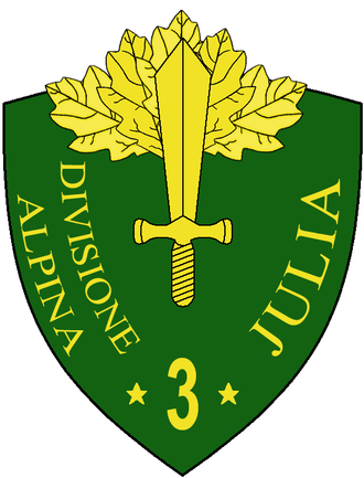 3rd Alpine Division Julia - Coat of Arms of the 3rd Alpine Division Julia