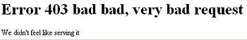 English: en.wikipedia error message