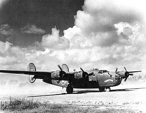 "308th Armament Systems Group - ""Chug-A-Lug"" B-24D-25-CO Liberator 41-24251, 425th Bombardment Squadron, taken at Kwanghan Airfield, China"