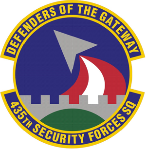 435th Security Forces Squadron - Image: 435 Security Forces Sq emblem
