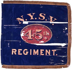 45th New York Volunteer Infantry Regiment - Image: 45th NY flank marker