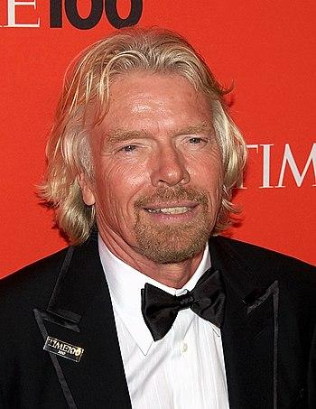 English: Industrialist Richard Branson at the ...
