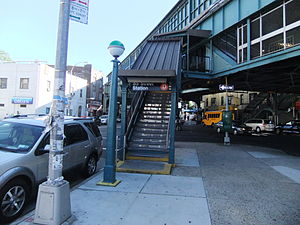 55th Street (BMT West End Line) - Southwestern street stair