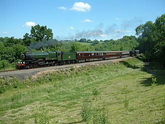 GWR 6000 Class 6024 King Edward I - Hauling the Royal Train at Highley, SVR