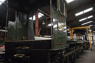 GWR 6800 Class 6880 Betton Grange - 6880 Betton Grange's rolling chassis inside Llangollen Shed during SSS4 in 2015.