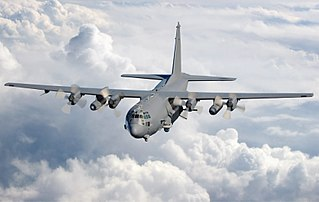 Lockheed AC-130 gunship aircraft based on the C-130 Hercules
