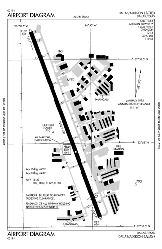Addison Airport - FAA airport diagram
