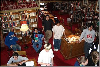 Cascadilla School - Cascadilla School Students make frequent use of the Cornell University libraries for study space and research. As shown here, they receive a special orientation to the library system each year.