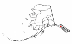 Location of Excursion Inlet, Alaska