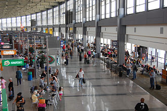 Austin–Bergstrom International Airport - The passenger concourse at the Barbara Jordan Terminal