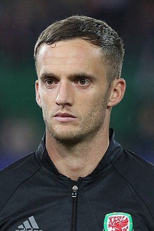 Andy King (footballer, born 1988) - King lining up for Wales in 2016
