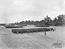 Soldiers on a parade ground