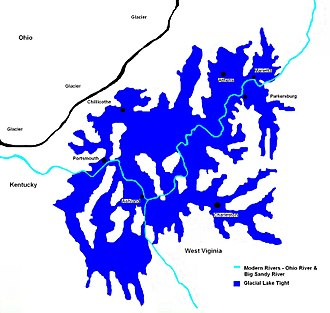 Lake Tight - Extent of Glacial Lake Tight about 500,000 YBP (years before present).