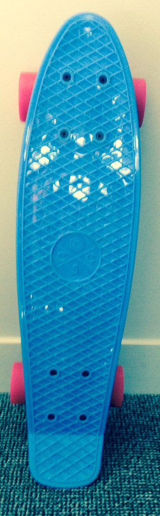 Penny board - A blue penny board