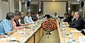 A delegation from Western Australia led by the Premier of Western Australia, Mr. Colin Barnett meeting the Union Minister for Mines and Steel, Shri Narendra Singh Tomar, in New Delhi. The Secretary, Ministry of Steel.jpg