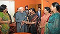 A delegation of CPWD Wives Association led by Smt. Lata Garg calls on the Vice President, Shri Mohd. Hamid Ansari, in New Delhi on March 26, 2015.jpg
