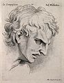 A man's face inclined forward, expressing compassion. Engrav Wellcome V0009355.jpg