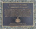 A plaque dedicated to Jeannette Hughes by Sidney Amphitheatre, Beacon Park, Sidney, British Columbia, Canada 07.jpg