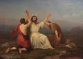 Aasta Hansteen 1856 Moses ber om seier støttet av Aron og Hur.png