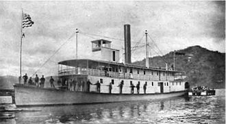 Okanagan Lake - sternwheeler Aberdeen on Okanagan Lake, sometime between 1893 and 1895