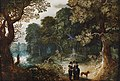 Abraham Govaerts and Sebastiaen Vrancx - An elegant couple strolling through the forest.jpg