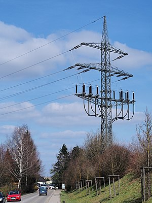 Dead-end tower - termination tower (overhead line to underground cable)