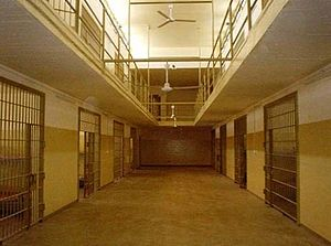 Prison - Cell block in Baghdad Central Prison (Abu Ghraib, Iraq)