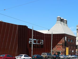 Malthouse Theatre, Melbourne - The Malthouse Theatre (on the right), behind the Australian Centre for Contemporary Art