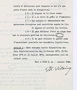 Lois constitutionnelles de 1875 dissertation proposal
