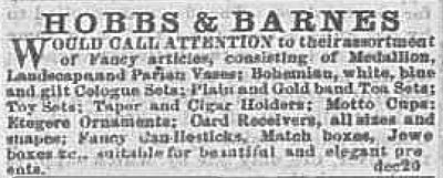 very old newspaper advertisement without illustrations