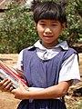 Adivasi (Indigenous) Schoolgirl - Rangamati - Chittagong Hill Tracts - Bangladesh (13240873625).jpg