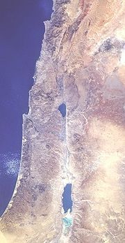 The Jordan Rift Valley from space