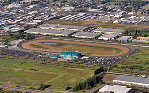 Emerald Downs - Aerial view from west-southwest, 2013