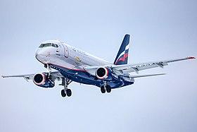 Aeroflot Sukhoi Superjet landing at SVO.jpg