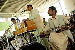 Music of Afghanistan - Band of Afghan musicians in Farah, Afghanistan