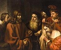 After Rembrandt - Christus en de overspelige vrouw.jpg
