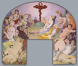 Agnolo Bronzino - The adoration of the bronze snake - Google Art Project (27465014)