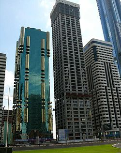 Ahmed Abdul Rahim Al Attar Tower Under Construction on 28 December 2007.jpg