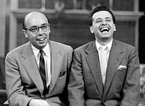 Ahmet Ertegun - Ahmet (left) with his brother Nesuhi, around 1960