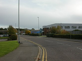 Christchurch Airfield - Image: Airfield Way, Christchurch geograph.org.uk 1024456