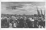 Airplanes - Types - Giant Caproni Biplane flying low. The giant Caproni biplane carrying seven persons, and being driven by three motors flying over the throng at the Gymkhana held on Captain John S. Phillip's po(...) - NARA - 17342439.jpg