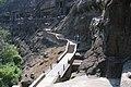 Ajanta Caves, India, Ajanta basalt cliffs and caves.jpg