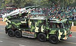 Akash (Army Version) passes through the Rajpath during the full dress rehearsal for the Republic Day Parade-2015, in New Delhi on January 23, 2015.jpg