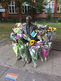 <i>Alan Turing Memorial</i> memorial in the Sackville Park in Manchester, England