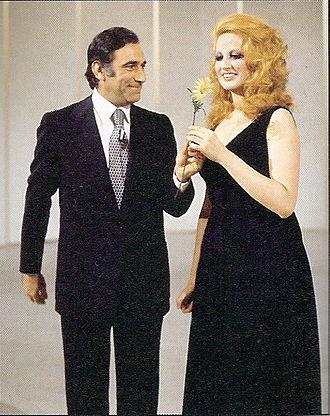Mina (Italian singer) - Mina with Alberto Lupo, 1972
