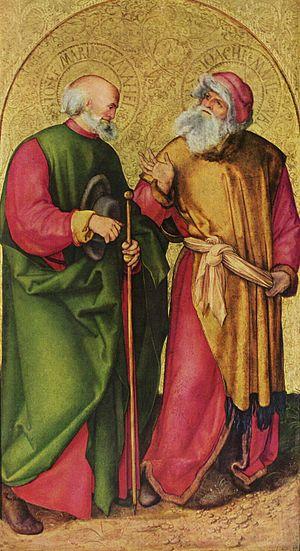 Jabach Altarpiece - Sts. Joseph and Joachim, 96×54 cm, Munich.